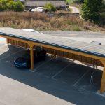 Ombrière photovoltaïque couplée avec une borne de recharge pour véhicules électriques - Août 2020 - Ardennes 08