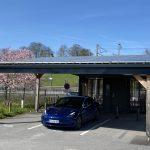 Ombrière photovoltaïque couplée avec une borne de recharge pour véhicules électriques - Juin 2018 - Ardennes 08