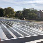 Préau photovoltaïque de 9kWc - Septembre 2018 - Saint-Brice-Courcelles 51