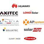 Un installateur de qualité se doit de travailler avec des marques de panneaux photovoltaïques et onduleurs de référence !